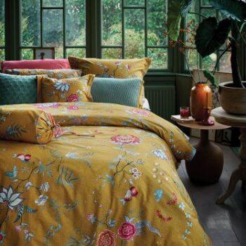 copripiumino flower festival giallo - la Bottega di Casa